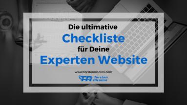 Die ultimative Checkliste für Deine Experten Website