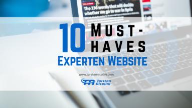 10 Must-haves Deiner Experten Website