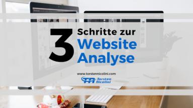 3 Schritte zur Website Analyse