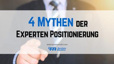 4 Mythen der Experten Positionierung