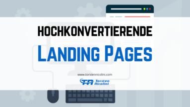 hochkonvertierende Landing Page