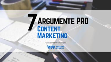 7 Gründe pro Content Marketing