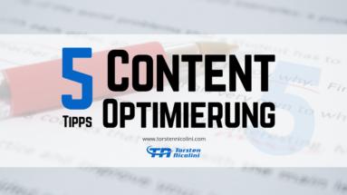 Content Optimierung Tipps