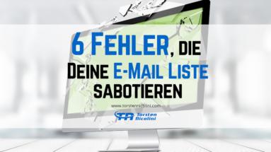Fehler-E-Mail-Liste