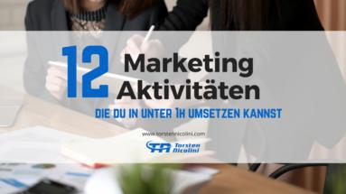 Marketing-Aktivitäten in unter 1h