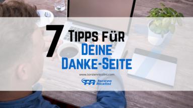 7 Tipps für Deine Danke-Seite