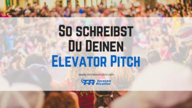Elevator Pitch schreiben