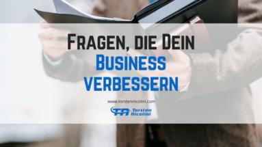 Fragen Business verbessern