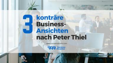 Business-Ansichten Peter Thiel